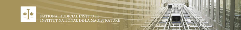 The National Judicial Institute / Institut national de la magistrature